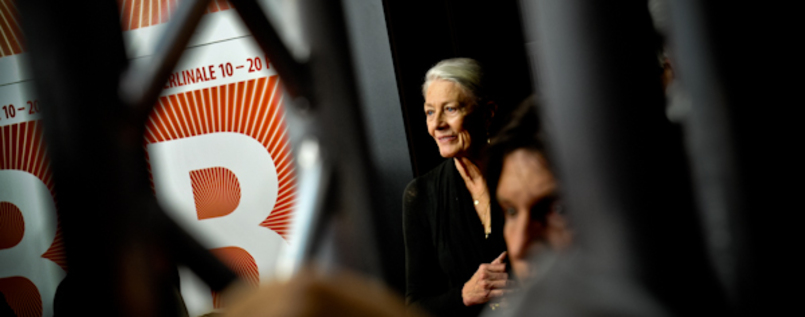 Vanessa Redgrave observing the Press.