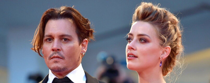 Amber Heard und ihr Mann Johnny Depp im September 2015 in Italien.