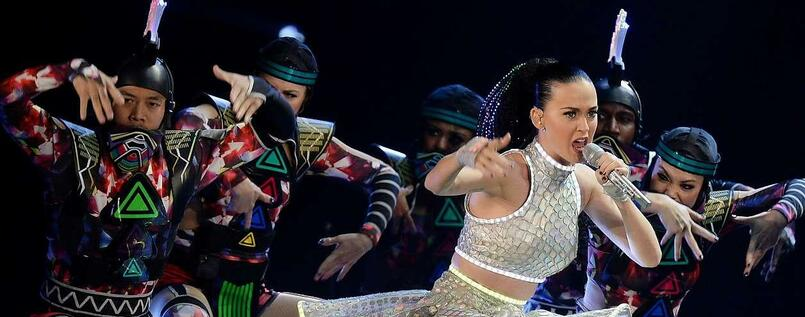 Katy Perry bei der Prismatic World-Show.