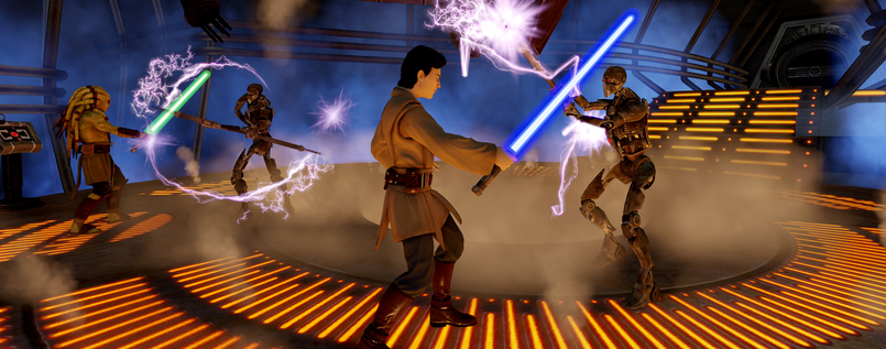 "Packendes Duell: Szene aus ""Kinect Star Wars""."