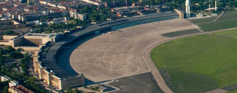 Das Tempelhofer Feld in Berlin.