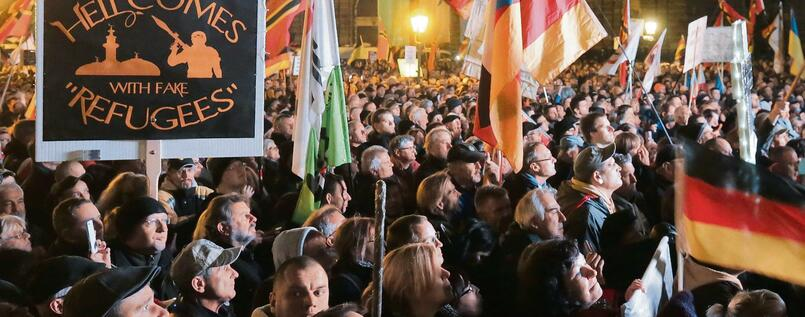 Pegida-Demonstranten in Dresden.