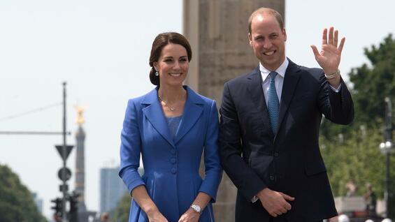 Herzogin Kate und ihr Mann Prinz William in Berlin