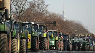 Landwirte demonstrieren in Berlin