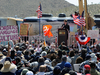 Large Tea Party Rally Held In Sen. Harry Reid's Hometown Of Searchlight, NV Foto: AFP