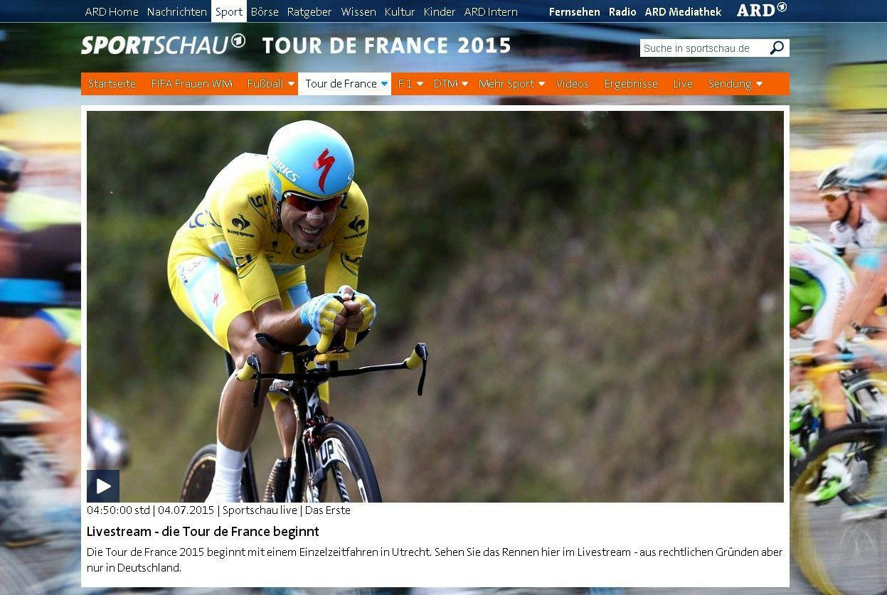 Tour de france in der ard das publikum wollte die tour for Spiegel tv live stream