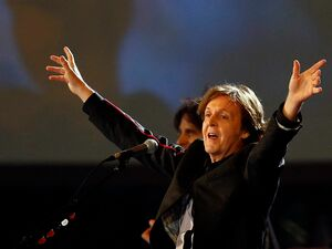 "A long way from Beijing: Paul McCartney sings ""Hey Jude"" at the London Opening Ceremony."