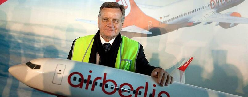 Hartmut Mehdorn - seit September 2011 leitete er Air Berlin.