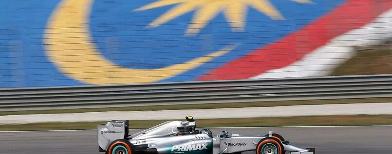 Mercedes-Pilot Nico Rosberg war in Malaysia Trainingsbester.