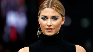 Model Lena Gercke bei der Show von Maybelline New York.