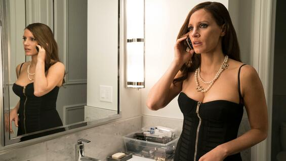 "Sexappeal als Waffe: Jessica Chastain in ""Molly's Game""."