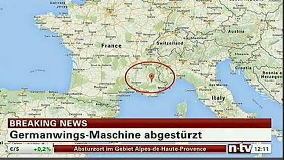 Der Absturzort der Germanwings-Maschine.