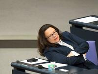 In Schieflage: Arbeitsministerin Andrea Nahles (SPD).