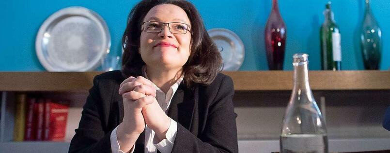 Andrea Nahles, Arbeitsministerin.