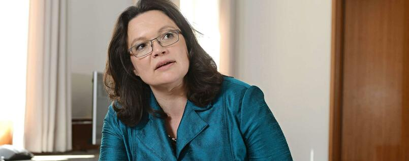 Arbeitsministerin Andrea Nahles im Tagesspiegel-Interview.