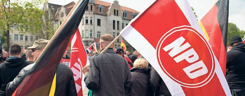 NPD-Demonstration in Erfurt (Archivbild von 2015)