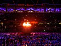 The 2012 Olympics are officially opened in London. Foto: dpa
