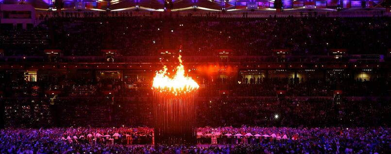 The 2012 Olympics are officially opened in London.