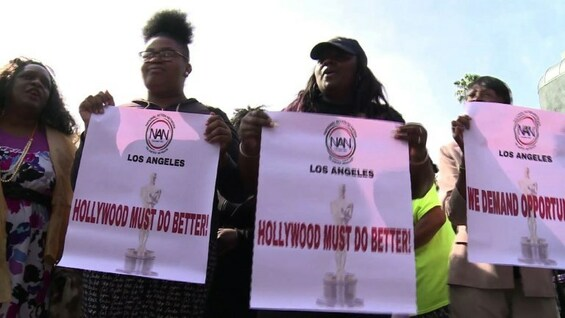 #OscarsSoWhite: Proteste in Los Angeles