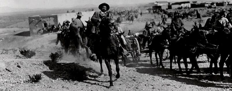 Pancho Villa ritt in Mexiko.