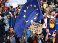 March for Europe in London, against Brexit, Great Britain leaving the European Union.