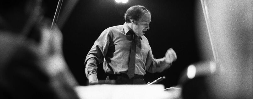 Pierre Boulez 1972 in Paris.