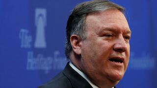 Mike Pompeo spricht in der Heritage Foundation in Washington über die Iran-Politik der USA.