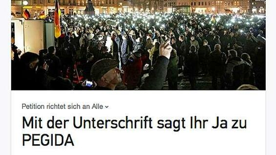 "Pro-""Pegida""-Petition auf Change.org"