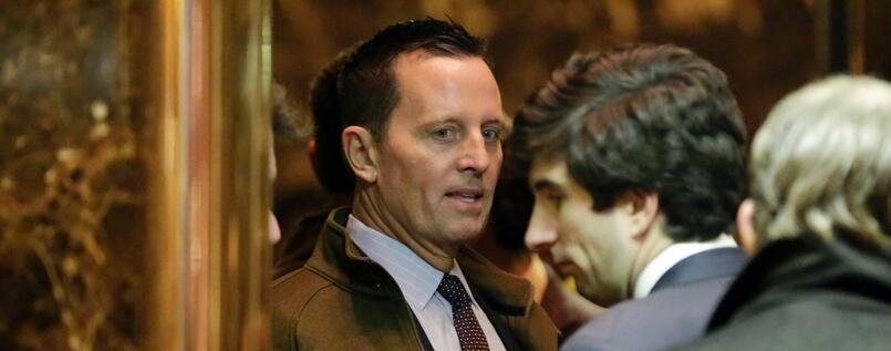 Richard Grenell Ende 2016 am Trump Tower in New York.