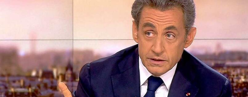 Nicolas Sarkozy am Sonntagabend in France 2.