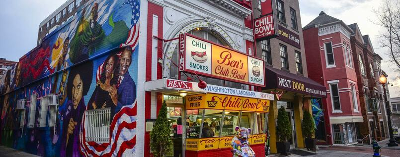 Kult-Imbiss seit 60 Jahren: Ben's Chili Bowl in Washington, DC.