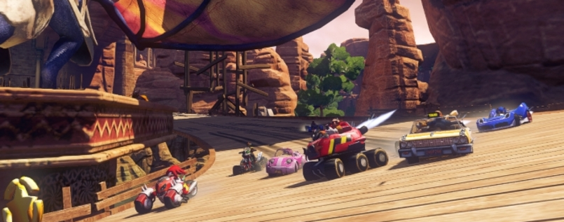 "Szene aus ""Sonic & All-Stars Racing Transformed""."