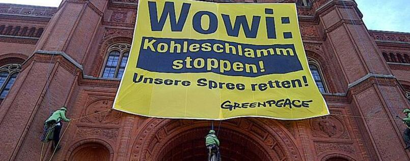 Protest am Roten Rathaus.
