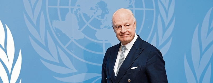 Staffan de Mistura bei den Vereinten Nationen in Genf