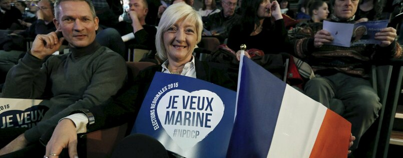 Die Front-National-Chefin Marine Le Pen.