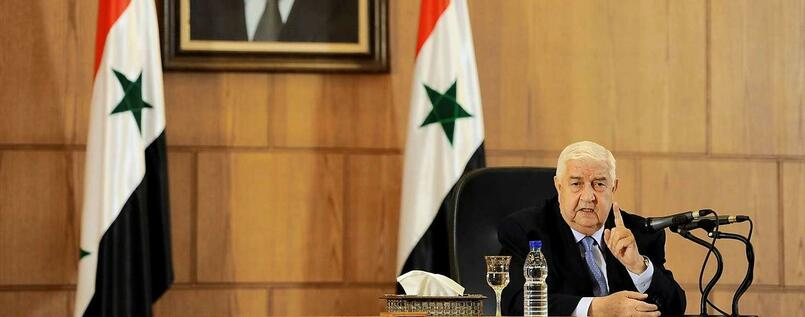 Syriens Außenminister Walid al-Muallem