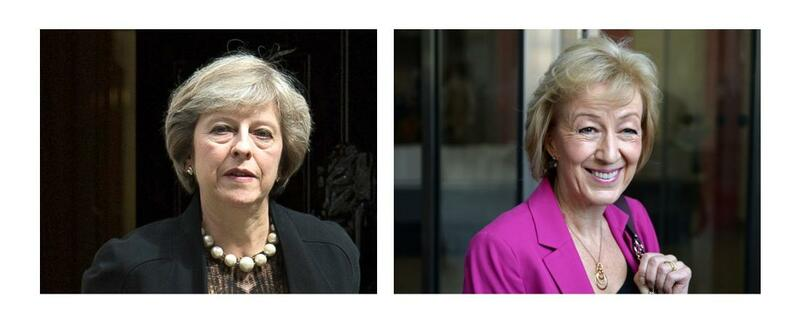 Theresa May (links), Andrea Leadsom (rechts).
