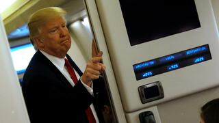 US-Präsident Donald Trump in der Air-Force-One.