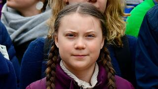 "Greta Thunberg bei einer ""Fridays for Future"" Demonstration im März in Berlin."
