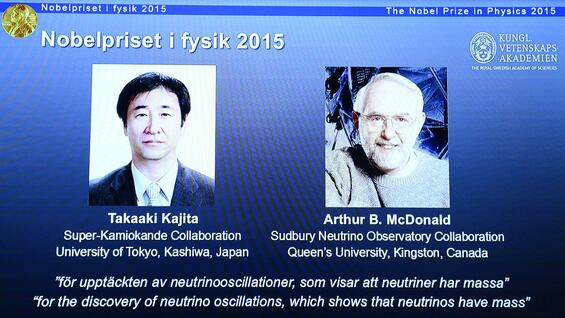 Die Nobelpreisträger in Physik 2015: Takaaki Kajita and Arthur McDonald
