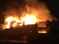 Die Glasgow School of Art in Flammen