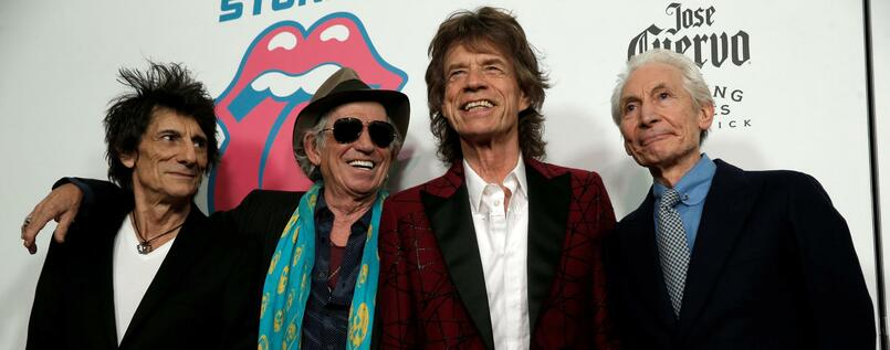 The Rolling Stones mit Ronnie Wood, Keith Richards, Mick Jagger and Charlie Watts.