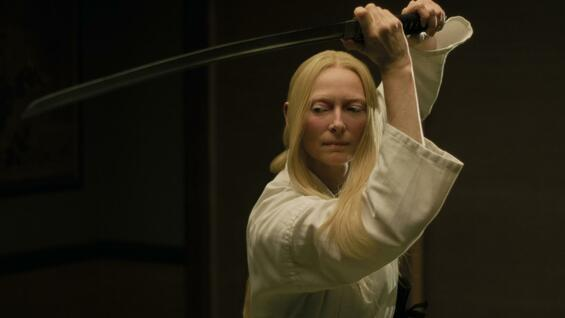 "Tilda Swinton als Zelda Winston in ""The Dead Don't Die""."