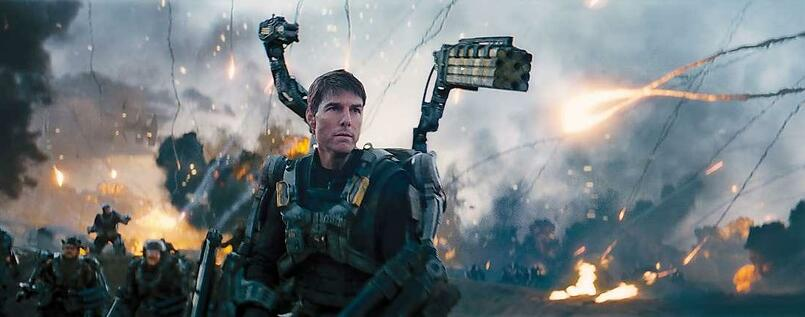 "Tom Cruise in ""Edge of Tomorrow""."
