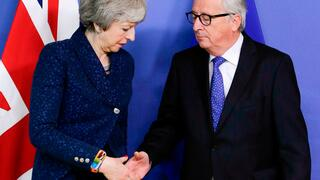 Theresa May und Jean-Claude Juncker in Brüssel