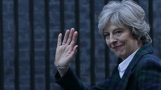 Bye-bye EU. Großbritanniens Premierministerin Theresa May nach ihrer Rede in London.
