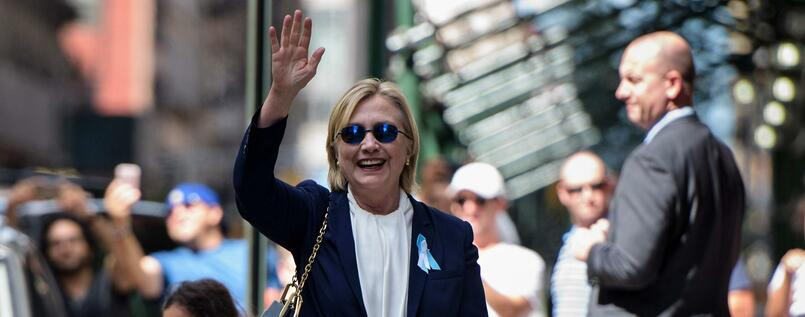 Hillary Clinton am 11. September in New York.
