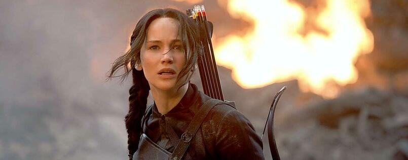 Katniss (Jennifer Lawrence).