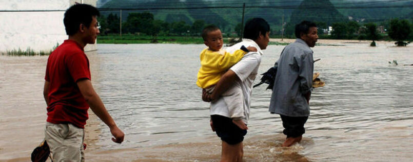 Unwetter in China