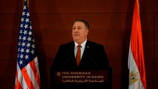 US-Außenminister Mike Pompeo am Donnerstag in Kairo.